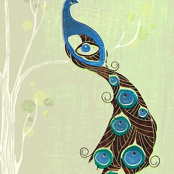 Peacock in green by Sloosh