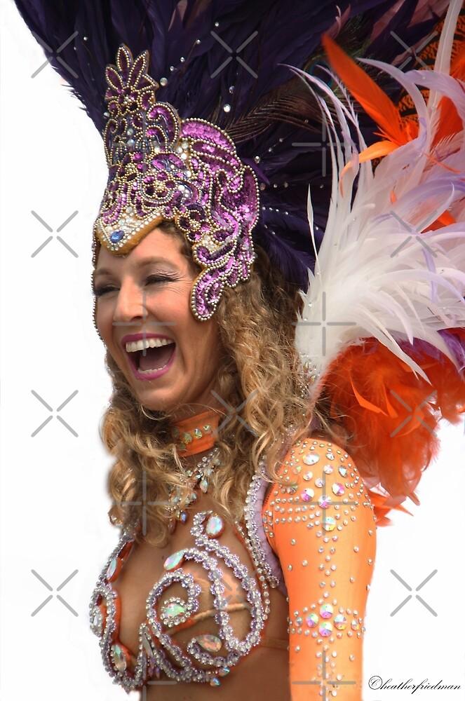 Samba Dancer Having a Laugh!  by Heather Friedman