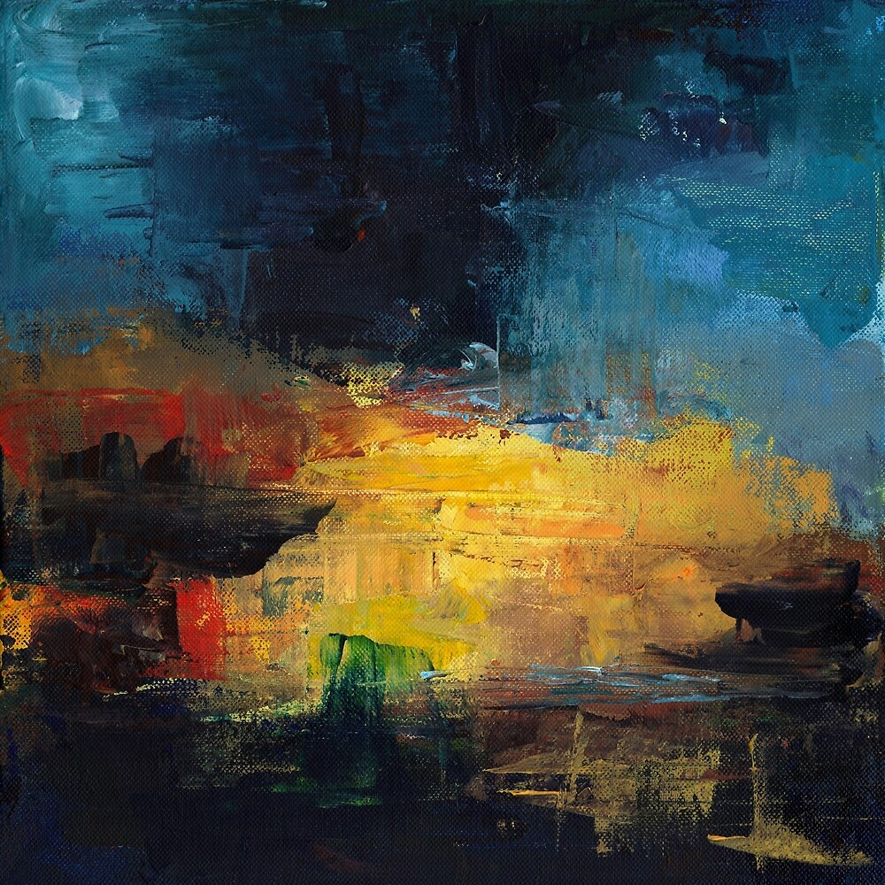 Abstract in Red, Yellow and Blue by Kate Chesters