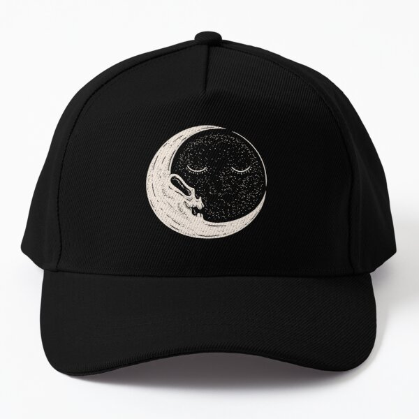 The End of Times - Sun and Moon | Dead Moon Skull in vintage old cartoon style | Vulture Culture | A trip to the moon Baseball Cap