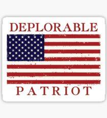 Deplorable Patriot Sticker Sticker