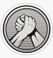 Arm wrestling Silver Sticker