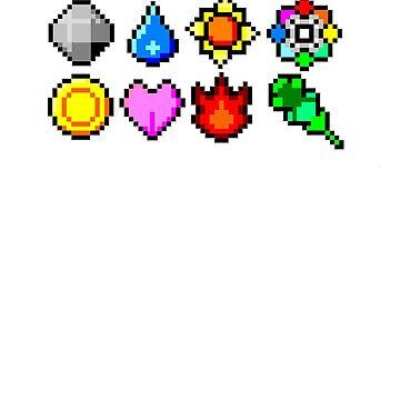 Pokémon Badges by Jackydile