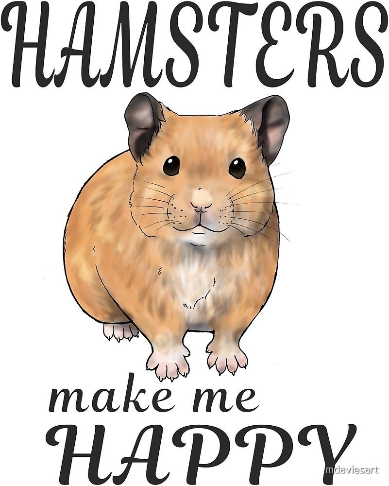 Hamsters make me happy ginger ver. by mdaviesart