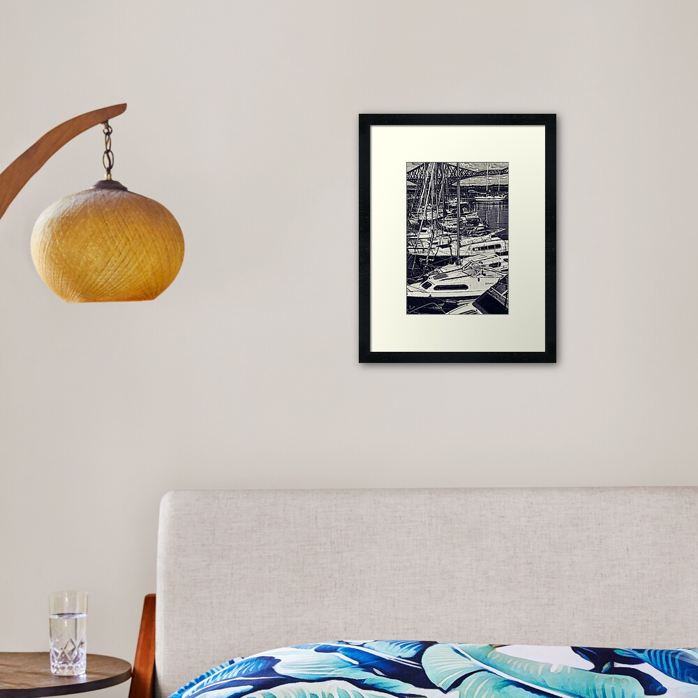 Queensferry Harbour Framed Art Print