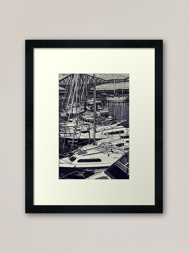 Alternate view of Queensferry Harbour Framed Art Print