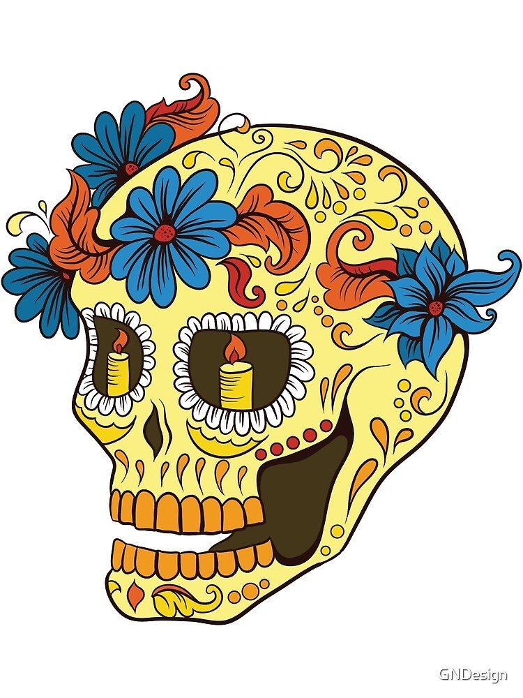 Sugar Skull yellow by GNDesign
