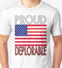 PROUD DEPLORABLE - USA PRINT Unisex T-Shirt