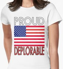PROUD DEPLORABLE - USA PRINT Women's Fitted T-Shirt