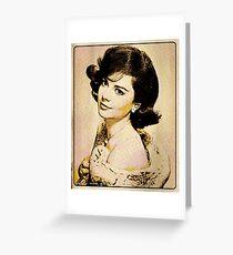 Vintage Style Natalie Wood Greeting Card