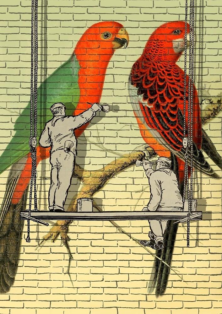 Parrots Mural  by SaturnPrint