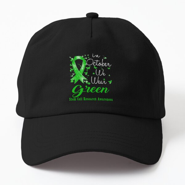 In October We Wear Green Ribbon Stem Cell Research Awareness Dad Hat