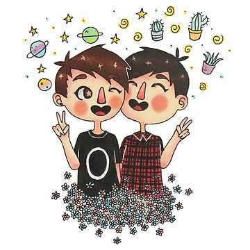 Dan and Phil (Left-handed) by alyonthego