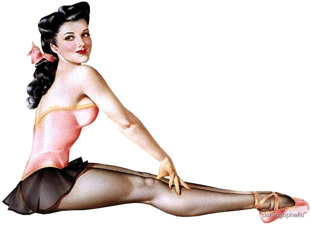 Gil Elvgren Pinup Ballerina by darlingophelia