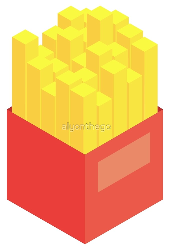 Isometric Fries (Left-handed) by alyonthego