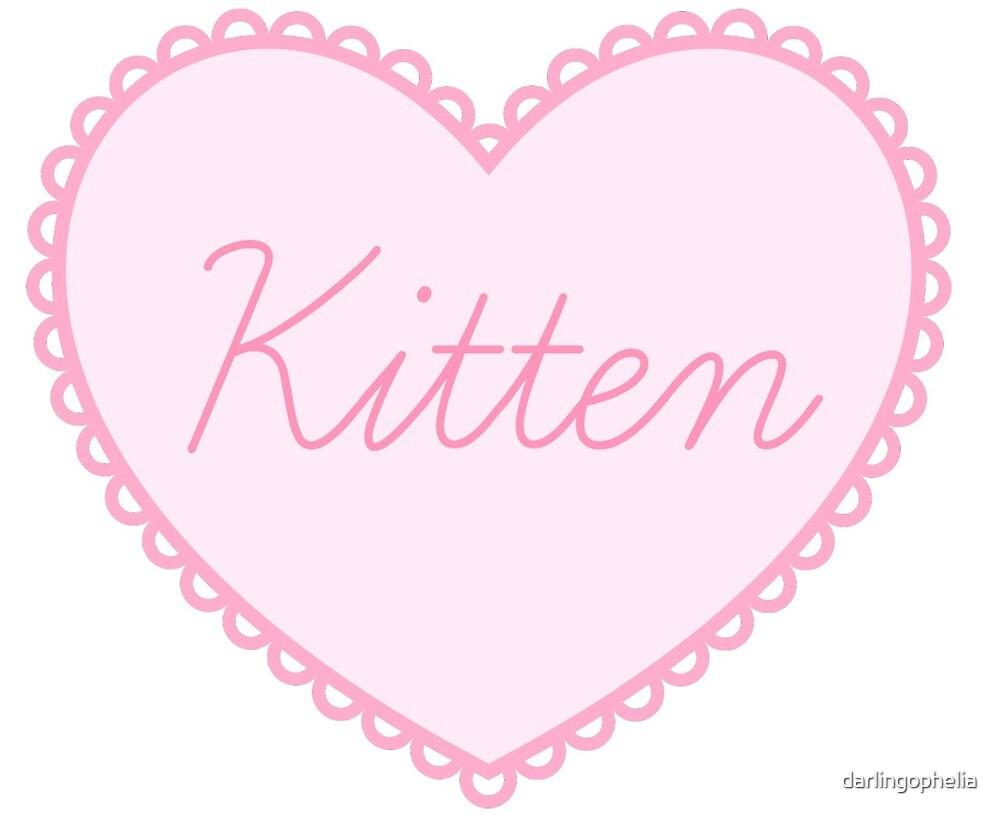 Kitten by darlingophelia