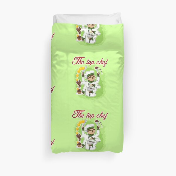 Commissions | Sloth Chef Duvet Cover