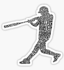 Pegatina Softball Jugador de béisbol Calligram