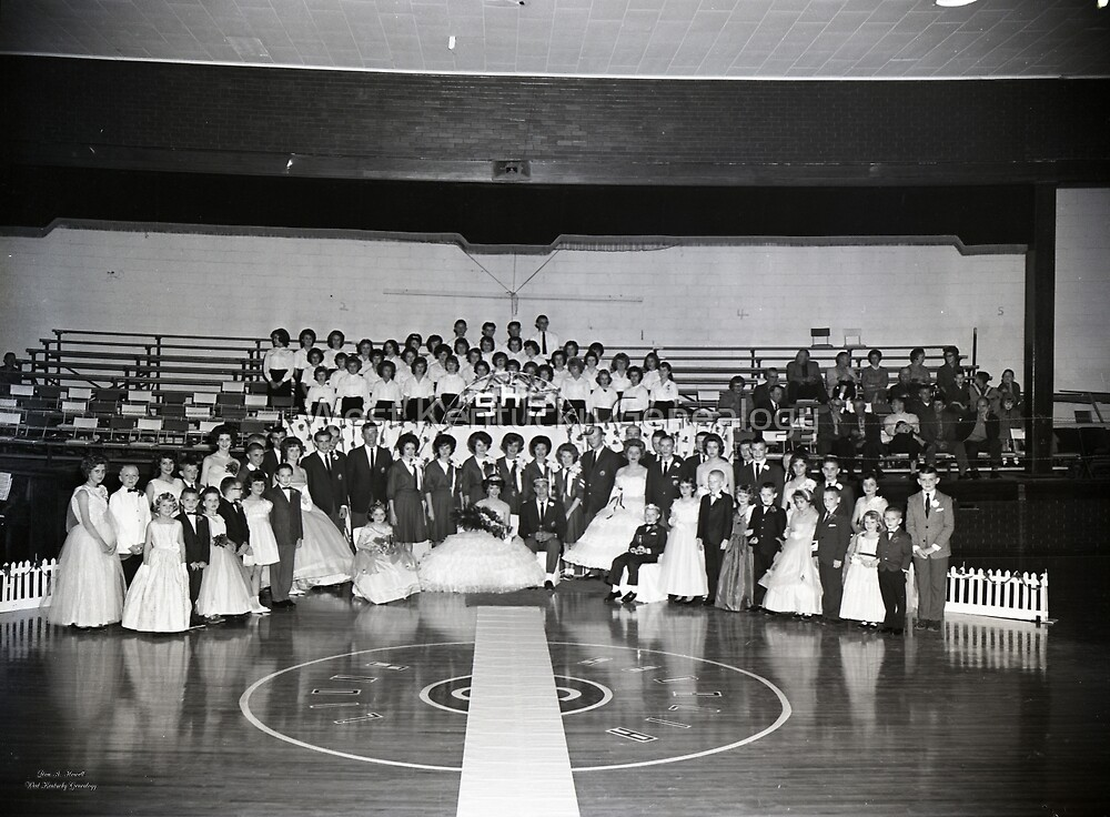 1962, SEDALIA HIGH SCHOOL BASKETBALL KING AND QUEENS by Don Howell