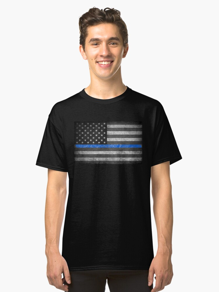 Thin Blue Line  Classic T-Shirt Front