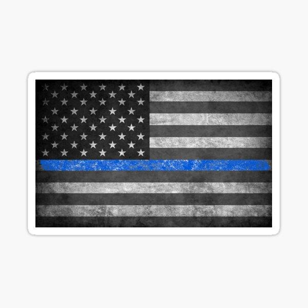 Vinyl Sticker Waterproof Decal Oregon Support Police Thin Blue Line Flag