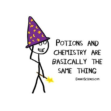 Wizards and chemists sticker by ErrantScience