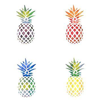 Colorful Pineapple Set by kay-la-vie