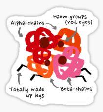 Hemoglobin spider sticker Sticker