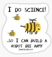 Science for robot bees! Sticker