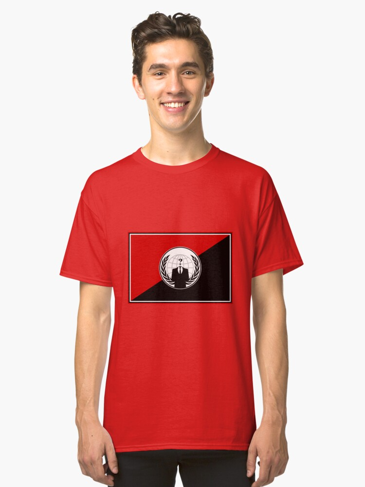 Anonymous (Anarchist Flag) Classic T-Shirt Front