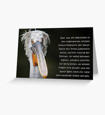 Talking Animals - Umwelt 8 Greeting Card