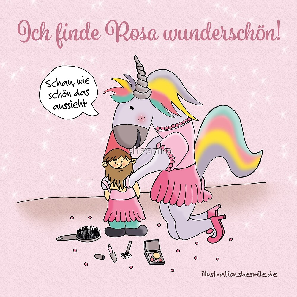 Unicorns love pink! by shesmile