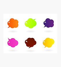 Vector speech glossy bubbles collection Photographic Print
