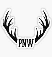 PNW Antler Sticker