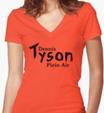 Dennis Tyson Plein Air Black Women's Fitted V-Neck T-Shirt