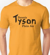 Dennis Tyson Plein Air Black Unisex T-Shirt