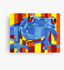 Primary Frog Canvas Print