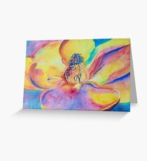 Opening--Magnolia Flower Greeting Card