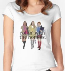 Clueless - Rollin with the homies Women's Fitted Scoop T-Shirt