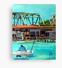 Last of the Carolina Swing Bridges Canvas Print
