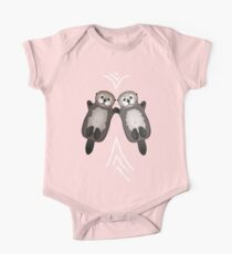 Otters Holding Hands - Sea Otter Couple Kids Clothes