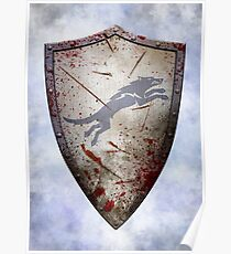 Stark Shield - Battle Damaged Poster