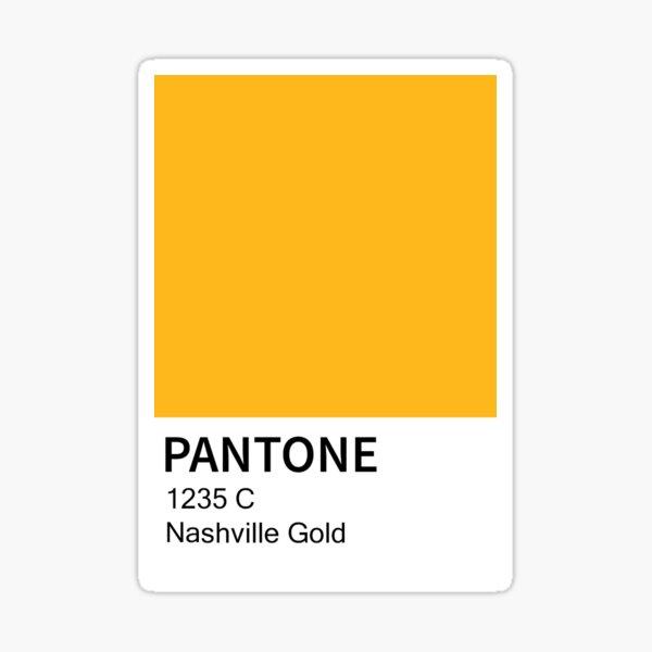 Nashville Predators Gold Pantone Color Card Sticker