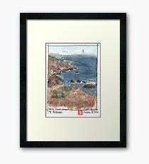 Steep Ravine Campsite Framed Print