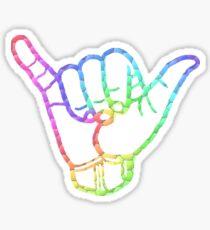 Rainbow Hang Loose Sticker
