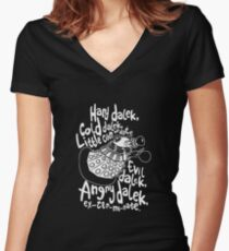 hard cold doctor who Women's Fitted V-Neck T-Shirt
