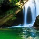 Sum Waterfall in Vintgar Gorge, near Bled, Slovenia. by Ian Middleton