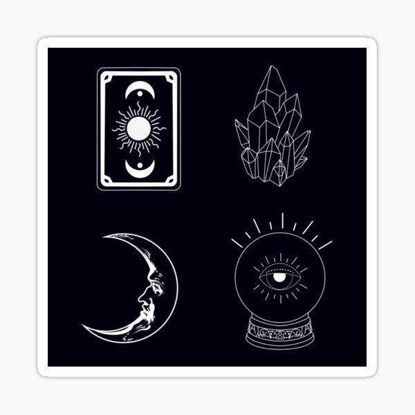 Cosmic Tarot Moon Witch  Sticker