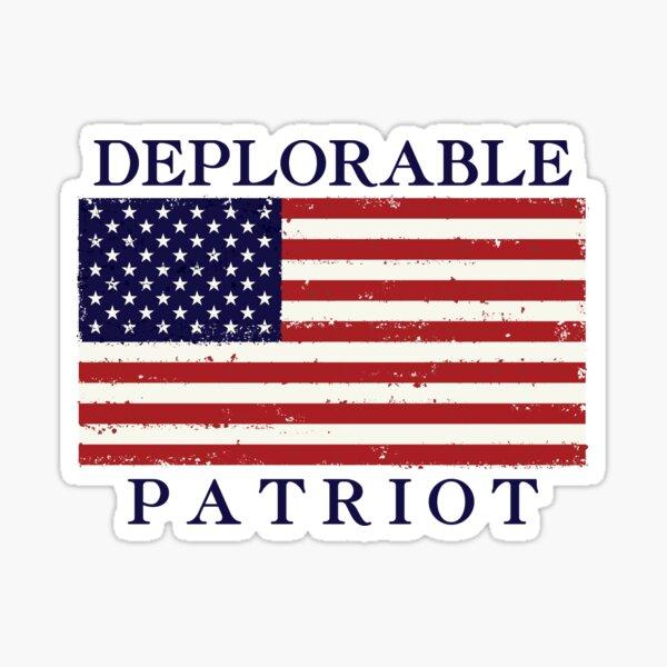 Deplorable Patriot (Blue Letters) Sticker