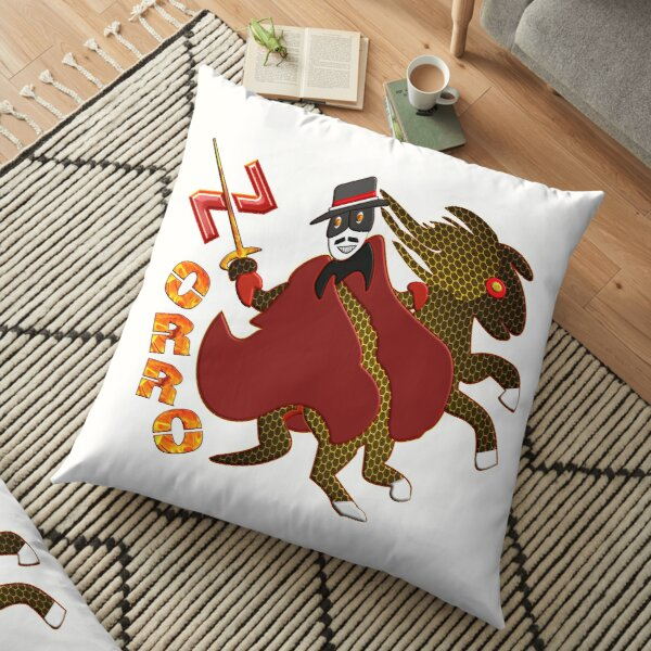 In the name of Zorro - rider on fire sharp sword Floor Pillow